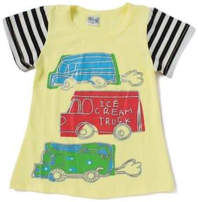 Camey Boy Cotton Printed T-shirt - Yellow