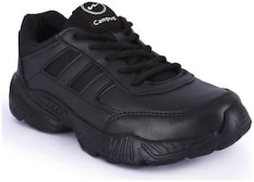 Campus Black Boys School Shoes