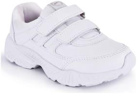Campus White Boys School Shoes