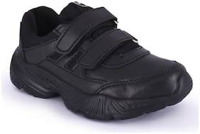 Campus Black Boys School Shoes