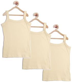 Leading Lady Vest for Girls - Beige , Set of 3