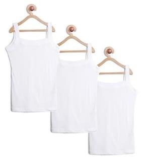 Leading Lady Vest for Girls - White , Set of 3