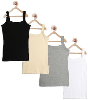 Leading Lady Camisole for Girls - Multi , Set of 4