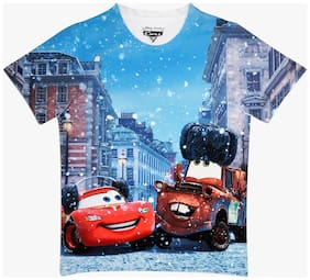 Cars Boy Polyester Printed T-shirt - Multi