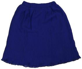 Cartalyst Polyester Striped A- line skirt - Blue
