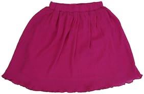 Cartalyst Polyester Striped A- line skirt - Pink