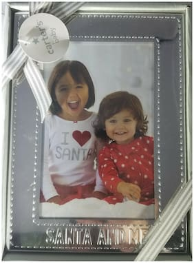"""Carter's baby """"SANTA AND ME"""" 3.5"""" X 5.5"""" Silver Picture Frame"""