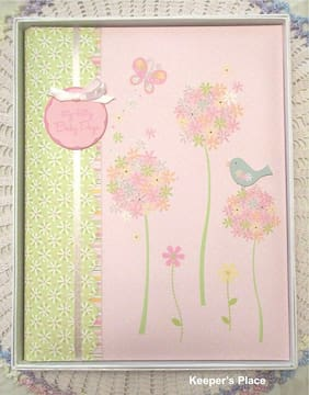 Carters MEADOWLARK Baby Girl Memory Book Up To 1st Day Of School By CR Gibson