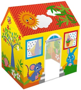 Cartoon Jungle Theme Play Tent House for Kids Piped Play House Cottage Hut Tent for Boys and Girls