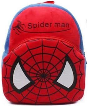cartoon school Bag For kids soft Toy push shoulder Bag (Red, 15 inch)