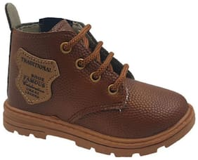 SIM STYLE Brown Boys Boots
