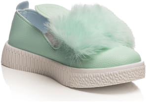 Enso Green Casual Shoes For Girls