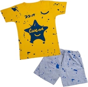 Catcub Unisex Top & bottom set - Yellow