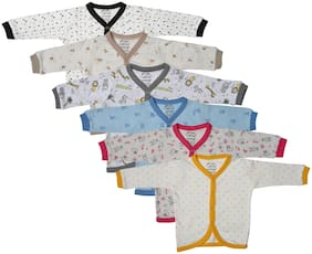 Catcub Cotton Printed Top for Unisex Infants - Multi