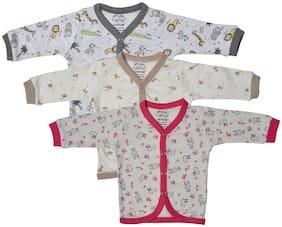 Catcub Cotton Printed Top for Unisex Infants - Multi