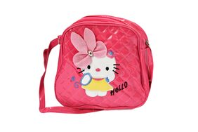 Caterfly Girl's Stylish PU Leather Magenta Adjustable Strap Casual Backpack/Sling/Shoulder Bag