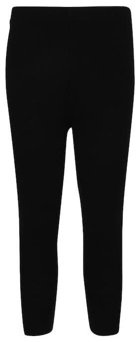 Cayman Girl Wool Solid Leggings - Black
