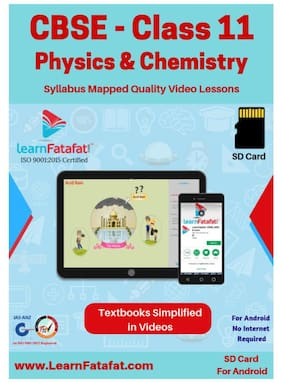CBSE Class 11 Physics and Chemistry Educational Video Course SD Card