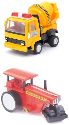 Centy Toys Road Roller and Mixer ( Pack of 2 )