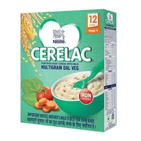 Nestle CERELAC Infant Cereal Stage-4 (12 Months-24 Months) MultiGrain Dal Vegetable 300g(Pack of 2)