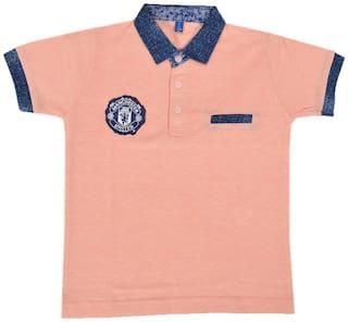 CH CRUX & HUNTER Boy Cotton Solid T-shirt - Pink