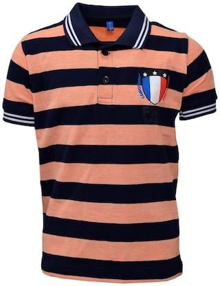 CH CRUX & HUNTER Boy Cotton Embellished T-shirt - Blue
