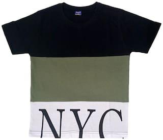 CH CRUX & HUNTER Boy Cotton Printed T-shirt - Black
