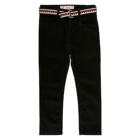 Chalk by Pantaloons Boy Solid Trousers - Black