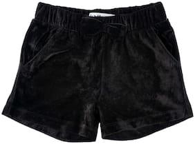 Chalk by Pantaloons Girl Polyester Solid Regular shorts - Black