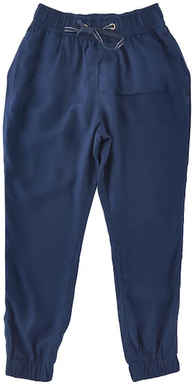 Chalk by Pantaloons Girl Cotton Trousers - Blue