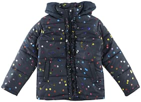 Chalk by Pantaloons Girl Polyester Printed Winter jacket - Blue
