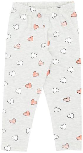Chalk by Pantaloons Poly cotton Printed Leggings - Grey