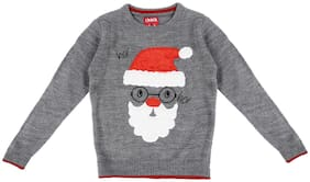 Chalk by Pantaloons Boy Acrylic Solid Sweater - Grey