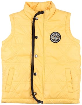Chalk by Pantaloons Boy Polyester Solid Winter jacket - Yellow