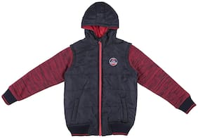 Chalk by Pantaloons Boy Polyester Solid Winter jacket - Red