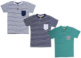 Dollar champion kidswear Boy Cotton Printed T-shirt - Blue