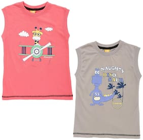 Dollar champion kidswear Boy Cotton Printed T-shirt - Multi