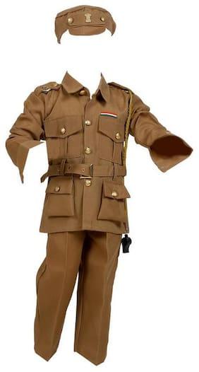 CHANDU KI DUKAN Police Dress Khaki VARDI /Helpers Costume (Brown)