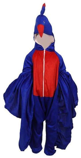 CHANDU KI DUKAN Peacock Bird Fancy Dress Costume(Blue;Red)