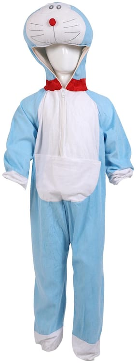 Chandu Ki Dukan Doremon Cartoon Fancy Dress Costume For Boy(Blue)