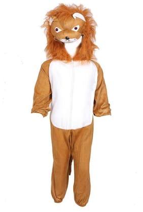 Chandu Ki Dukan Lion Animal Fancy Dress Costume The King of The Jungle Wild Animal Kids Fancy Dress Calf (Brown;White)