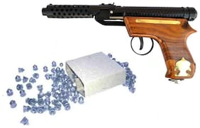 Charismacart Metal And Wooden Airgun with 200 free Pellets