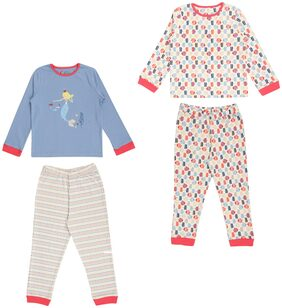 CHARM N CHERISH Girl Cotton Top & Bottom Set - Multi