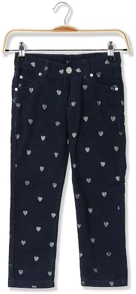 CHEROKEE Baby girl Cotton Printed Trousers - Blue