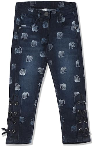 CHEROKEE Baby girl Cotton Printed Jeans - Blue