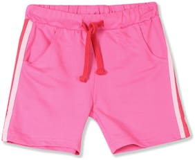 CHEROKEE Baby girl Cotton Solid Shorts - Pink
