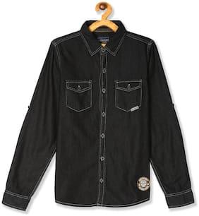 CHEROKEE Boy Cotton Printed Shirt Black