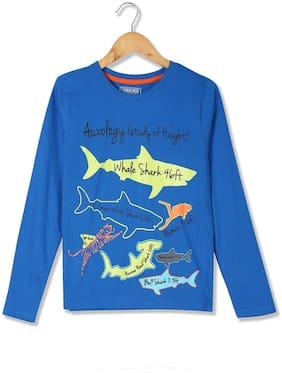 CHEROKEE Boy Cotton Printed T-shirt - Blue
