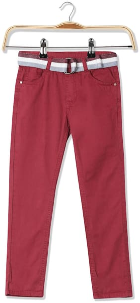 Cherokee Boys Solid Belted Trousers