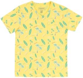 CHEROKEE Boy Cotton Printed T-shirt - Yellow